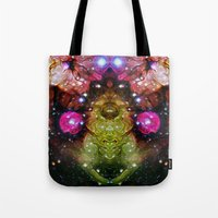 interstellar Tote Bags featuring Interstellar by Mark Kriegh