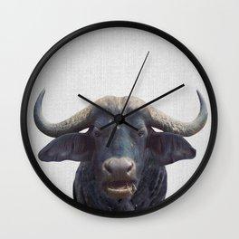 African Buffalo - Colorful Wall Clock