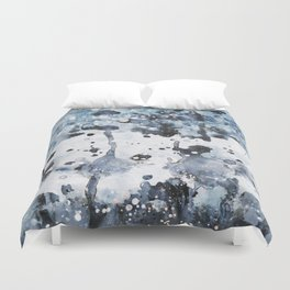 indigo: abstract painting Duvet Cover