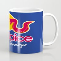 spice Mugs featuring Red Spice by Optimapress