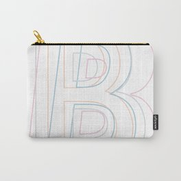 Intertwined Strength and Elegance of the Letter B Carry-All Pouch