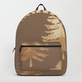Gold Foil Christmas Trees Wall Tapestry Backpack