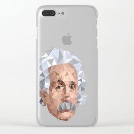 Mentor me Einstein Clear iPhone Case