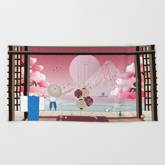 After the sunset Beach Towel