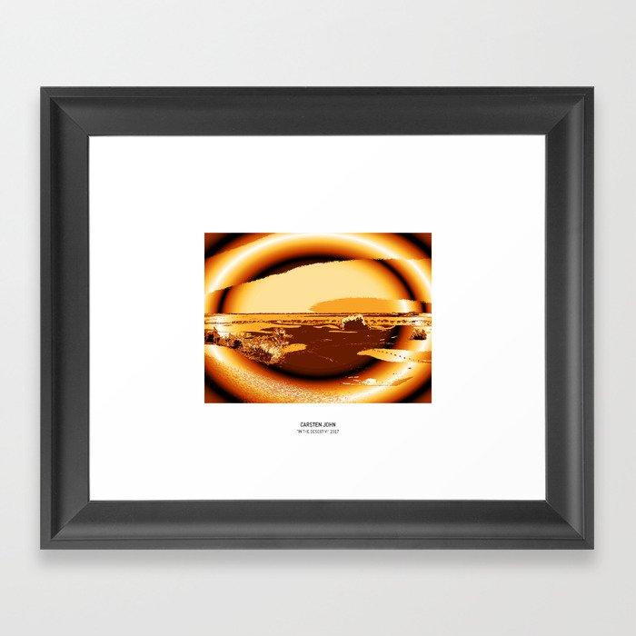 IN THE DESERT VI Framed Art Print