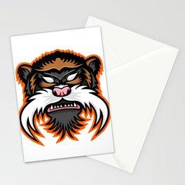 Emperor Tamarin Monkey Mascot Stationery Cards