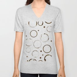 Coffee stains and drops  Unisex V-Neck