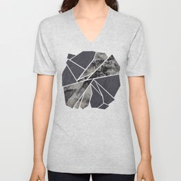 black and white flower Unisex V-Neck