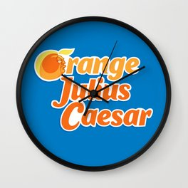 Orange Julius Caesar Wall Clock