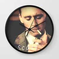 fitzgerald Wall Clocks featuring F. Scott Fitzgerald by Earl of Grey