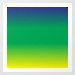 Blue+Yellow=Green Art Print