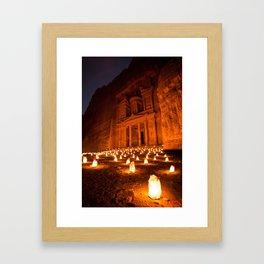Petra by Night Framed Art Print