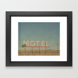 Vintage Motel Framed Art Print