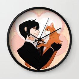 Sebastian and cat lady Wall Clock