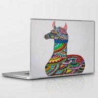 llama Laptop & iPad Skins featuring Llama Loud, Llama Proud by Caballos of Colour