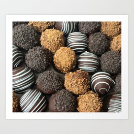 Truffle Chocoholic Fudge Mania Art Print