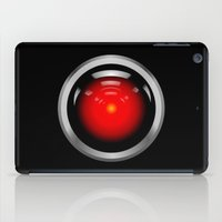 2001 a space odyssey iPad Cases featuring HAL 9000 from 2001: A Space Odyssey by TOM / TOM