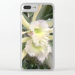 Fringe edge elegant orchids Clear iPhone Case