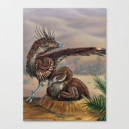 Brooding Velociraptors Canvas Print