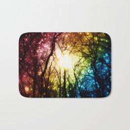 Dark Rainbow Nights Bath Mat