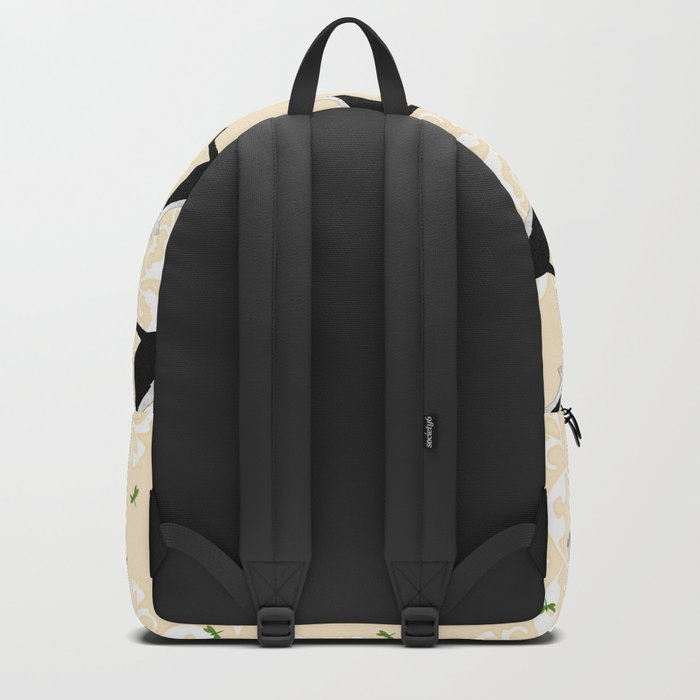 English Bull Terrier Dog in black Backpack