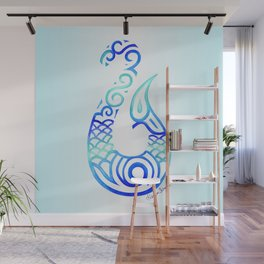 Tribal Fish Hook Wall Mural