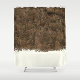 Dipped Wood - Walnut Burl Shower Curtain