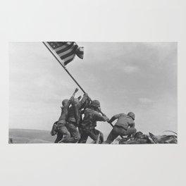 Iwo Jima Flag World War 2 Vintage Rug