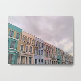 Colourful houses in Notting Hill, London Metal Print