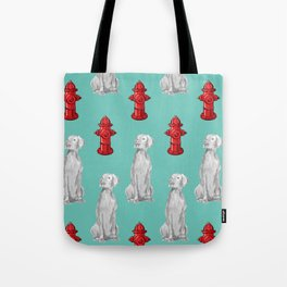 HYDRANTS AND WEIMARANERS Tote Bag