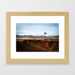 Western Windmill Framed Art Print