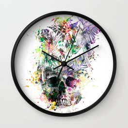 Skull - Parrots 2 Wall Clock