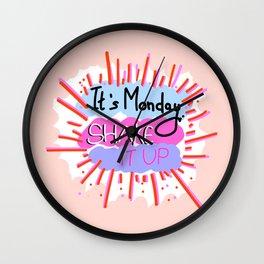 Monday - Shake it Up Wall Clock