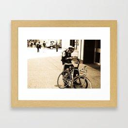 Bike Girl Framed Art Print