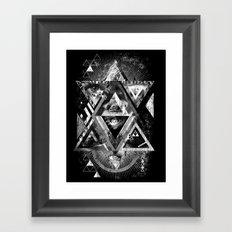 Eyesosceles B&W Framed Art Print