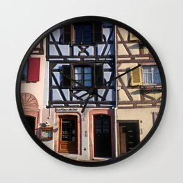 Most Beautiful Medieval Villages of Alsace France  Wall Clock
