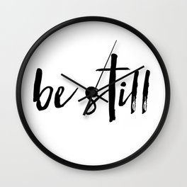 Be Still Cross Wall Clock