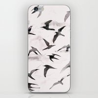 flight iPhone & iPod Skins featuring Flight by Georgiana Paraschiv