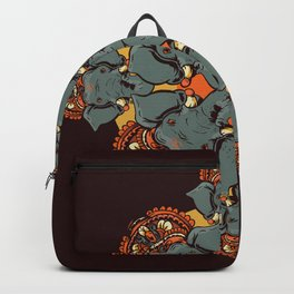 Gnesha Pattern Backpack