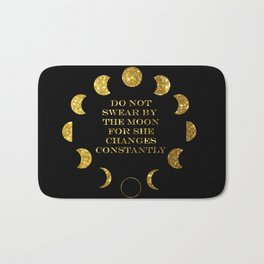 Moon Phases Gold Bath Mat