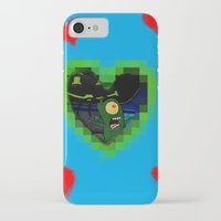 karen hallion iPhone & iPod Cases featuring Plankton & Karen by Iwilldrawyourface
