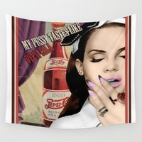 lana Wall Tapestries featuring Lana DelRey by CaitlinNicole