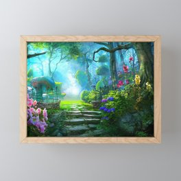 Fascinating Gorgeous Idyllic Dreamy Magic Garden UHD Framed Mini Art Print