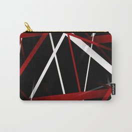 Seamless Red and White Stripes on A Black Background Carry-All Pouch