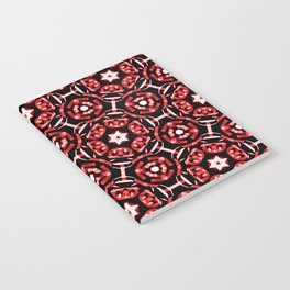 Red Bandanna Pattern Notebook