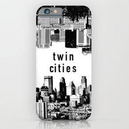 Twin Cities Minneapolis and Saint Paul Minnesota iPhone Case