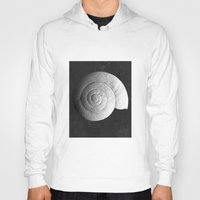 shell Hoodies featuring Shell by Studio Art Prints