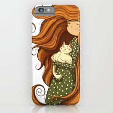 Girl and white cat Slim Case iPhone 6s