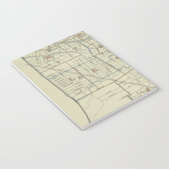 Vintage Map of Utica New York (1883) Notebook