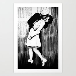 Times Squares Kiss Art Print